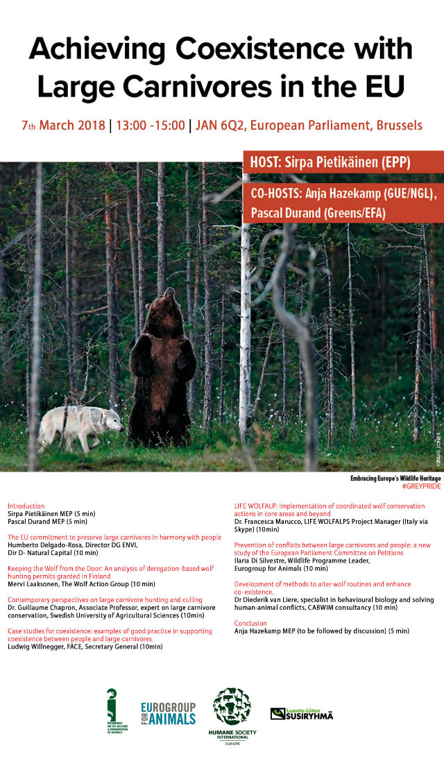 """Achieving Coexistence with Large Carnivores in the EU"""